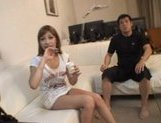 Kirara Asuka Asian doll is fucked by two horny guys picture 10