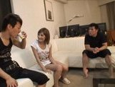 Kirara Asuka Asian doll is fucked by two horny guys picture 7