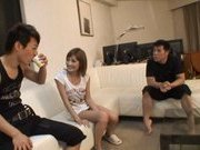 Kirara Asuka Asian doll is fucked by two horny guys