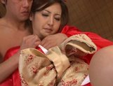 Julia Nanase Asian doll rides on a hard cock picture 4