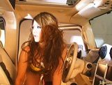 Risa Tuskino Hot Asian doll gets her pussy poked in the car