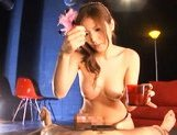 Yuna Shiina Lovely Japanese babe gives hot blowjobs picture 15