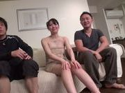 Spicy Japanese milf Yuna Aino is pounded by two sexy dudes