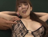 Sugary Asian milf Yui Hatano gives hot blowjob gets drilled by toys picture 11