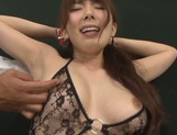 Sugary Asian milf Yui Hatano gives hot blowjob gets drilled by toys picture 12