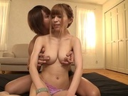 Nice blonde Japanese milf Rua Natsuki gets licked in 69 and rides cockyoung asian, sexy asian}
