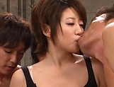 Gangbang special with Japanese babe Makoto Yuki picture 3