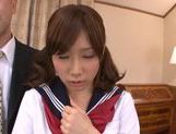Sweet and horny chick Minami Kojima rides on cock picture 15