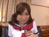 Sweet and horny chick Minami Kojima rides on cock picture 9