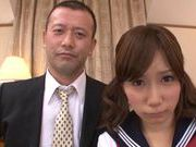 Sweet and horny chick Minami Kojima rides on cock