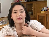 Erina Nagasawa gives a long sensual hndwork.