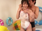 Lovely Asian doll Nana Usami pussy delighted