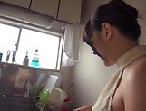 Nana Ninomiya gets a messy cum in mouth. picture 10