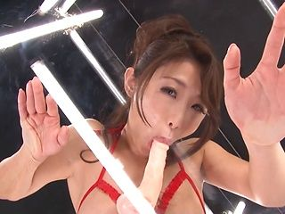 Charming Shinoda Ayumi bounces ass on stiff toy