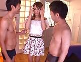Yurika Yuuki gives a raunchy double blowjob.