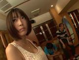 Peachy Japanese gal Azusa Watabe in a kinky group action picture 5