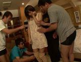 Peachy Japanese gal Azusa Watabe in a kinky group action picture 8