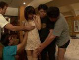 Peachy Japanese gal Azusa Watabe in a kinky group action picture 9