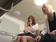 Office cutie Yuu Namiki deepthroats her sexy colleague