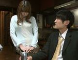 Superb Hanomi Uehara enjoys a still hard on