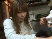Superb Hanomi Uehara enjoys a still hard on