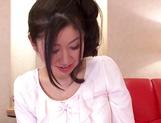 Kinky lesbian milfs Reiko Asahina, and Mari Nishiyama massage bdies lick pussies picture 12