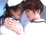 Hazuki Nozomi enoys a nasty lesbo action picture 15