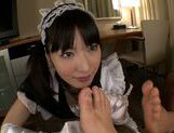 Sexy Asian maid Kana Yume pleases her master