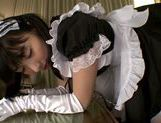 Sexy Asian maid Kana Yume pleases her master picture 13
