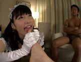 Sexy Asian maid Kana Yume pleases her master