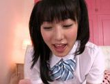 Horny Asian teen Kana Yume makes adorable licking on POV picture 6