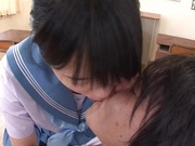 Kinky Asian schoolgirl Erika Kitagawa, is fond of cock teasing action