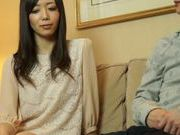 Playful Japanese milf rides dick and enjoys hard banging
