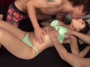 Japanese bimbo nailed by two guys in threesomeasian babe, japanese porn, asian women}