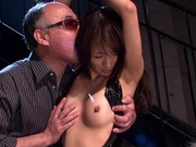 Toy insertion for horny Japanese babe Saki Kouzaiasian babe, asian anal}