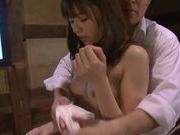 Deep penetration in wet pussy hole of horny Rina Rukawa