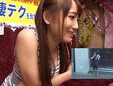 Mao Kurata is a hot Asian enjoying hand work and blowjob