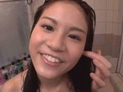 Ai Nikaidou enjoys hot and wild action inside the bathroom
