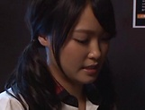 Hot schoolgirl Ai Yuzuki gives a sizzling blowjob picture 6