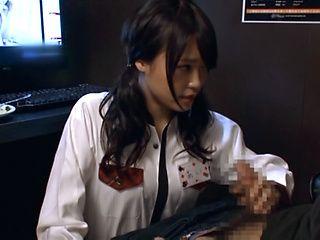 Hot schoolgirl Ai Yuzuki gives a sizzling blowjob