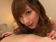 Cock sucking Kokone Mizutani enjoying a tasty dong
