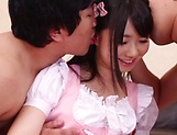 Alluring Asian hottie Niko Ayuna in raunchy threesome