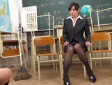 Kawakami Yuu nice Asian teen after school with lesbian teacher picture 14