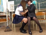 Kawakami Yuu nice Asian teen after school with lesbian teacher picture 15