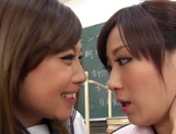 Kawakami Yuu nice Asian teen after school with lesbian teacher