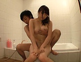 Body licking for Asian teen Yuri Satou in shower picture 11