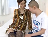 Skinny Asian milf, Eri Ito, gets licked before a hard fuck