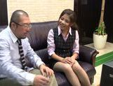Vibrator for a sexy babe in hot office suit