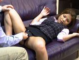 Vibrator for a sexy babe in hot office suitjapanese pussy, young asian}
