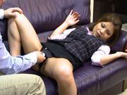Vibrator for a sexy babe in hot office suitcute asian, asian pussy}